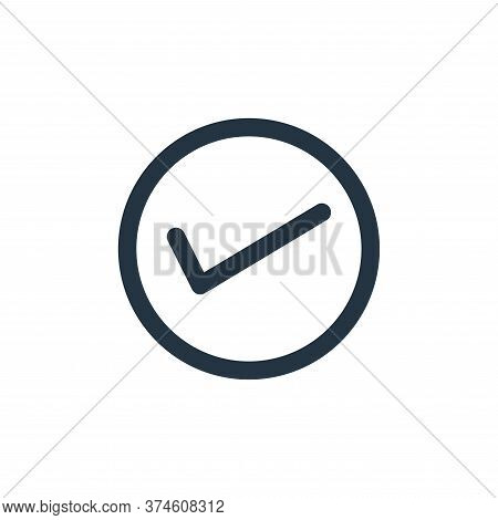 correct icon isolated on white background from marketing business collection. correct icon trendy an
