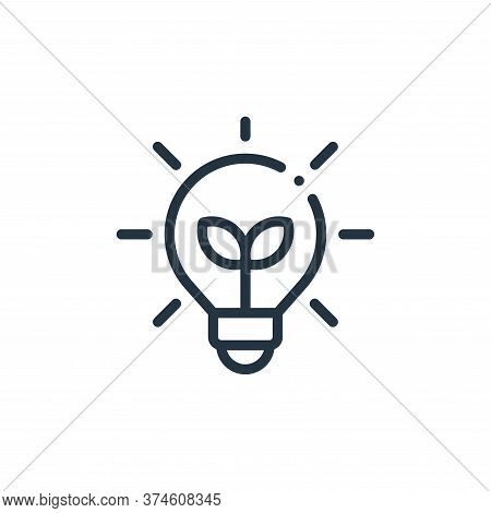 light bulb icon isolated on white background from ecology collection. light bulb icon trendy and mod