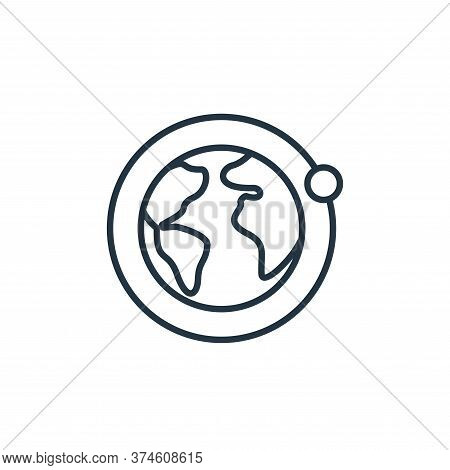 earth icon isolated on white background from space collection. earth icon trendy and modern earth sy