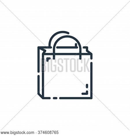 shopping bag icon isolated on white background from user interface collection. shopping bag icon tre