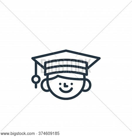 graduation icon isolated on white background from education collection. graduation icon trendy and m