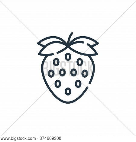strawberry icon isolated on white background from allergies collection. strawberry icon trendy and m
