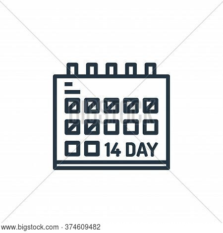 calendar icon isolated on white background from pandemic collection. calendar icon trendy and modern