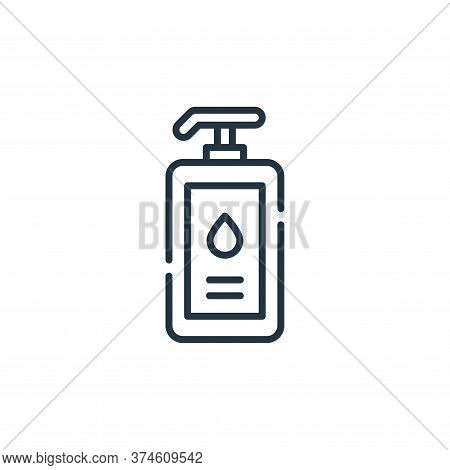 liquid soap icon isolated on white background from cleaning collection. liquid soap icon trendy and