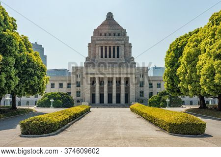 Tokyo / Japan - April 22,d 2018: National Diet Of Japan In Tokyo, Seat Of Legislative Power In Japan