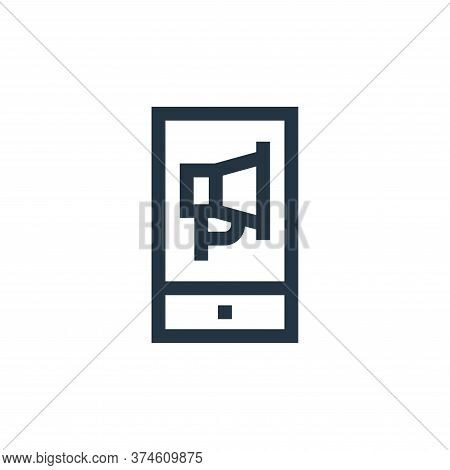 smartphone icon isolated on white background from marketing and growth collection. smartphone icon t