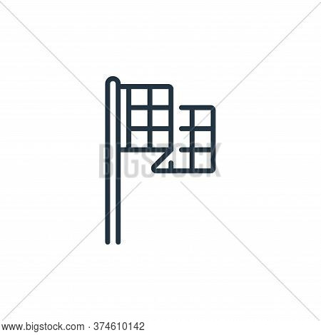 flag icon isolated on white background from fame collection. flag icon trendy and modern flag symbol