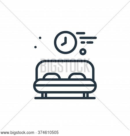 rest time icon isolated on white background from work from home collection. rest time icon trendy an