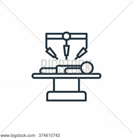 surgery icon isolated on white background from robotics collection. surgery icon trendy and modern s