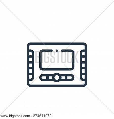 monitor icon isolated on white background from taxi service collection. monitor icon trendy and mode