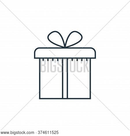 gift box icon isolated on white background from online shopping collection. gift box icon trendy and