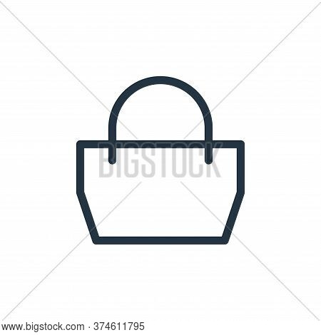 bag icon isolated on white background from fashion collection. bag icon trendy and modern bag symbol