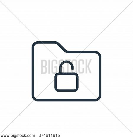 lock icon isolated on white background from folder collection. lock icon trendy and modern lock symb