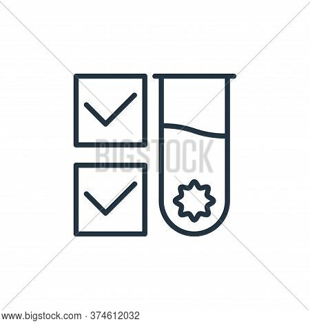 test tube icon isolated on white background from stop virus collection. test tube icon trendy and mo