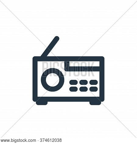 radio icon isolated on white background from multimedia collection. radio icon trendy and modern rad