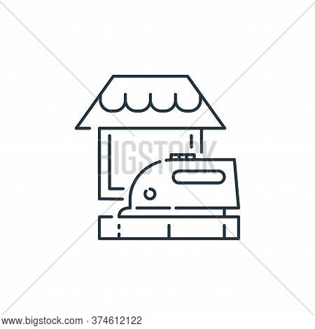 ironing icon isolated on white background from stay at home collection. ironing icon trendy and mode