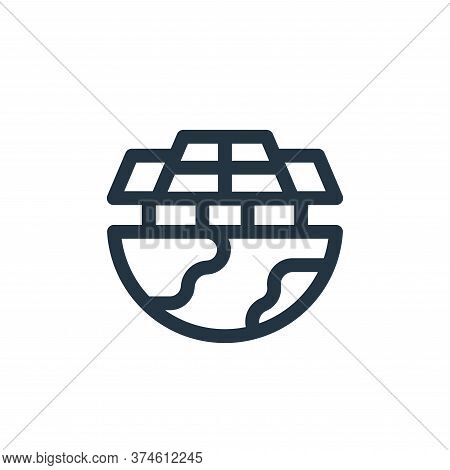 solar panel icon isolated on white background from mother earth day collection. solar panel icon tre