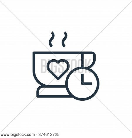 coffee time icon isolated on white background from stay at home collection. coffee time icon trendy