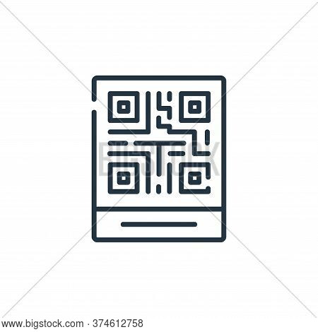 qr code icon isolated on white background from delivery collection. qr code icon trendy and modern q