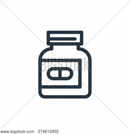 pills bottle icon isolated on white background from medical tools collection. pills bottle icon tren