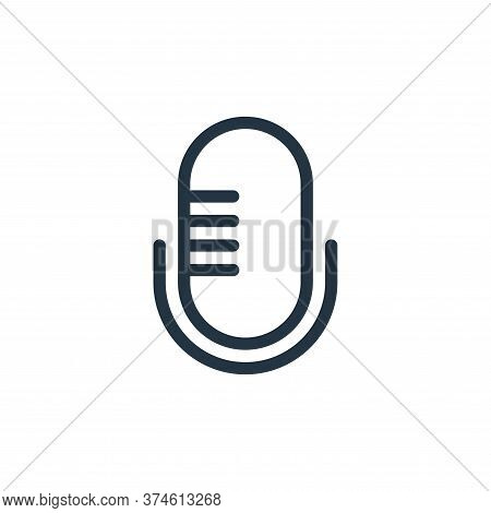 microphone icon isolated on white background from technology collection. microphone icon trendy and