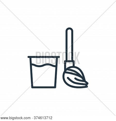 broom icon isolated on white background from stop virus collection. broom icon trendy and modern bro