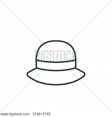 hat icon isolated on white background from clothes and outfit collection. hat icon trendy and modern