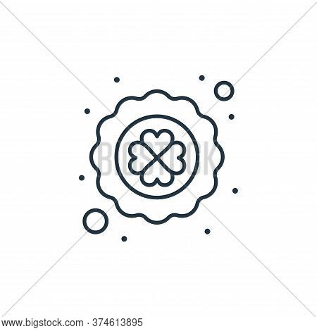 clover leaf icon isolated on white background from saint patrick collection. clover leaf icon trendy