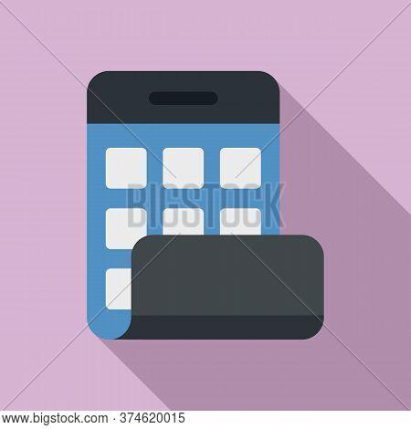 Flexible Screen Icon. Flat Illustration Of Flexible Screen Vector Icon For Web Design