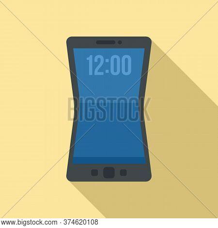 Flexible Screen Element Icon. Flat Illustration Of Flexible Screen Element Vector Icon For Web Desig