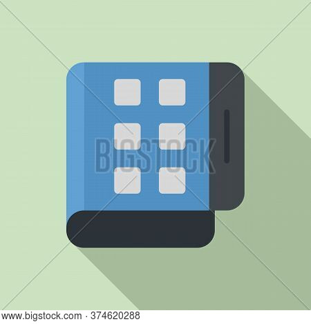 Flex Screen Fold Icon. Flat Illustration Of Flex Screen Fold Vector Icon For Web Design