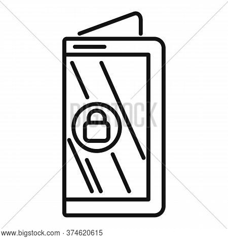 Flex Device Icon. Outline Flex Device Vector Icon For Web Design Isolated On White Background