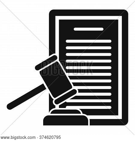 Divorce Judge Document Icon. Simple Illustration Of Divorce Judge Document Vector Icon For Web Desig