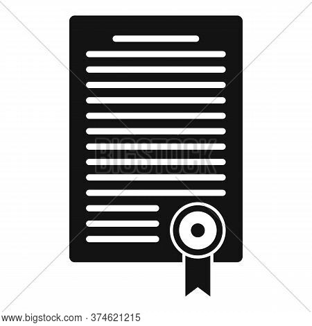 Divorce Resolution Document Icon. Simple Illustration Of Divorce Resolution Document Vector Icon For
