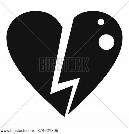 Love Heart Break Divorce Icon. Simple Illustration Of Love Heart Break Divorce Vector Icon For Web D