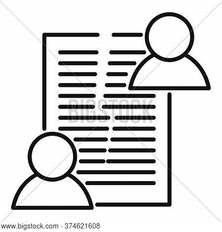 Divorce Agreement Icon. Outline Divorce Agreement Vector Icon For Web Design Isolated On White Backg
