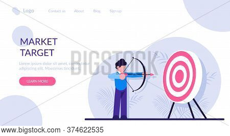 Concept Of Market Target, Business Goal, Achievement Strategy, Attaining Financial Objective. Archer