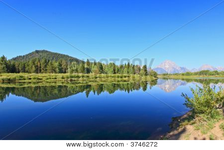 The Oxbow Bend Turnout In Grand Teton