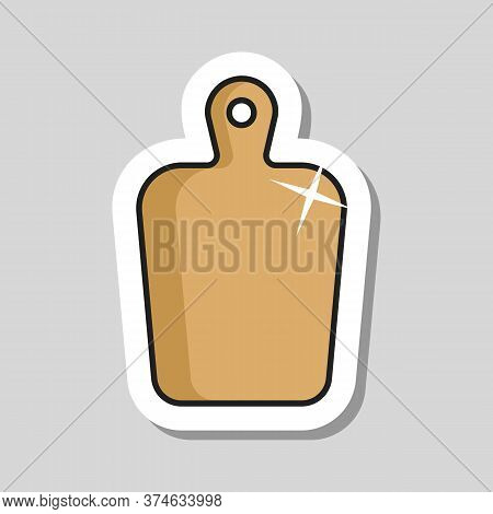 Cutting Board Vector Icon. Chopping Board Symbol. Graph Symbol For Cooking Web Site Design, Logo, Ap