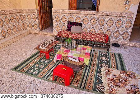 Ghardaia / Algeria - 03 Nov 2014: Some Food In The Berber House In Sahara Desert, Algeria