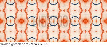 Majestic Floral Tile. Folk Embroidery. Mottled Floral Border. Bright Seamless  Tile Japanese Geometr