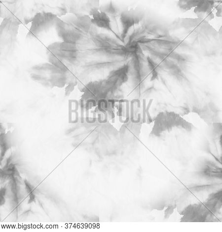 Mixing Paints Image. White, Gray Bleached Style Print. Beige Fabric Printed Texture. Bleached Print.