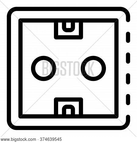 Power Socket Icon. Outline Power Socket Vector Icon For Web Design Isolated On White Background