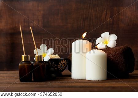 Thai Spa Massage.  Spa Body Treatment And Beauty Wellness. Therapy Aromatherapy For Body Women With