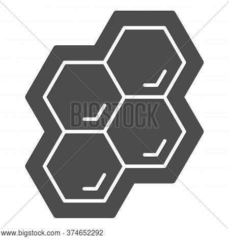 Honeycomb Solid Icon, Honey And Bee Concept, Honey Cells On White Background, Bee Hexagon Honeycomb