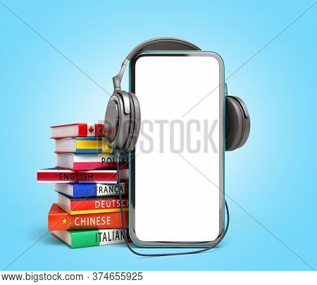 Self Learning Concept Presentation Of The Application For Learning Foreign Languages Smartphone With
