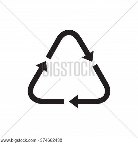 Recycle Icon Isolated On White Background. Recycle Icon In Trendy Design Style For Web Site And Mobi