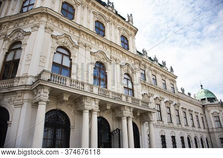 Classic Retro Vintage Antique Building For Austrians People And Foreign Travelers Travel Visit At Be