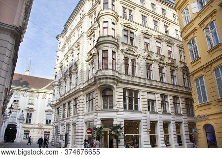 Classic Retro Vintage Antique Building For Austrians People And Foreign Travelers Travel Visit And W