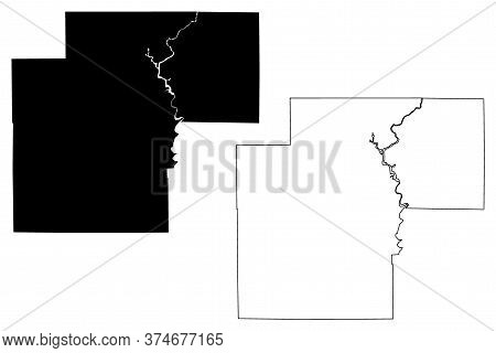 White County, Indiana (u.s. County, United States Of America, Usa, U.s., Us) Map Vector Illustration